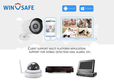 720P ONVIF Network Wireless IP Camera System , Wireless Alarm Camera System