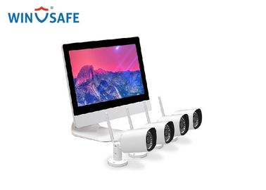 चीन 4pcs WiFi 720P/960P/1080P Wireless IP Camera System & 1pcs 4CH NVR with Monitor वितरक